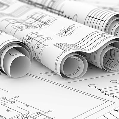 construction blacklines in roll