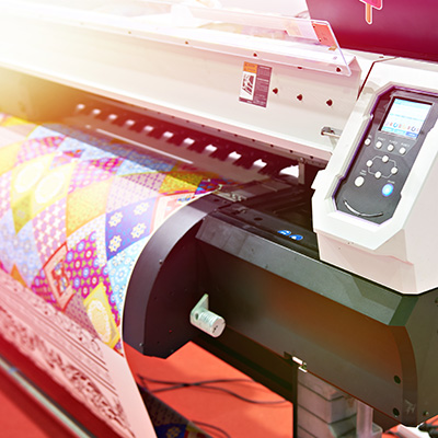 Big plotter printer with LED control panel